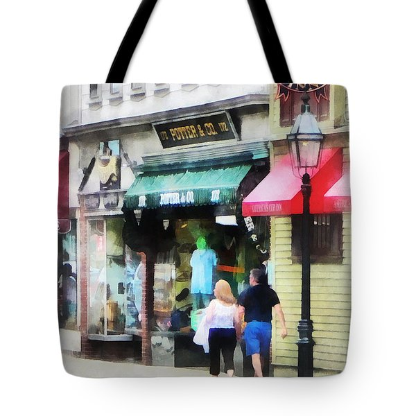 Tote Bag featuring the photograph Rhode Island - Thames Street Newport Ri by Susan Savad