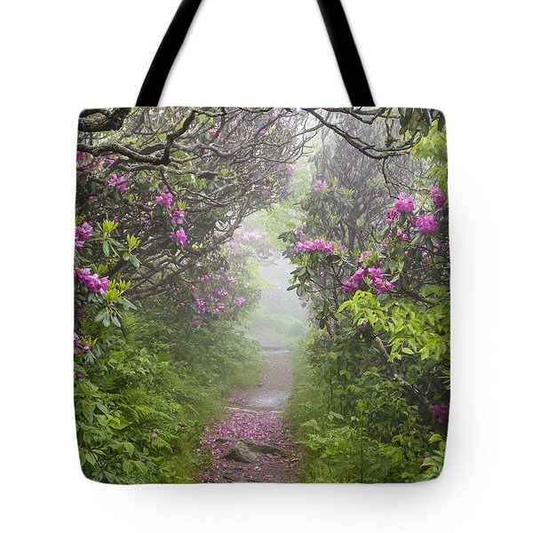 Rhododendron Time In North Carolina Tote Bag by Bill Swindaman