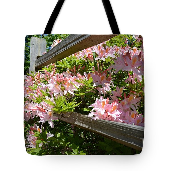 Rhododendrons In Tumwater Falls Park Tote Bag