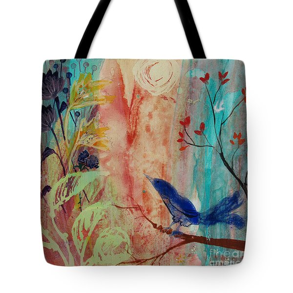 Tote Bag featuring the painting Rhythm And Blues by Robin Maria Pedrero