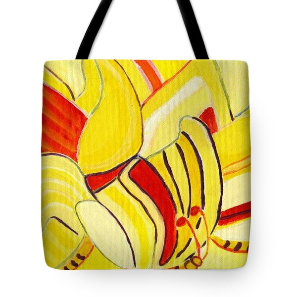 Rhythm Of Butterflies Tote Bag by Olivia  M Dickerson