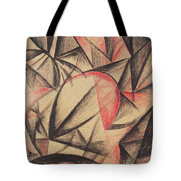 Rhythm Of Forms Tote Bag by Alexander Bogomazov