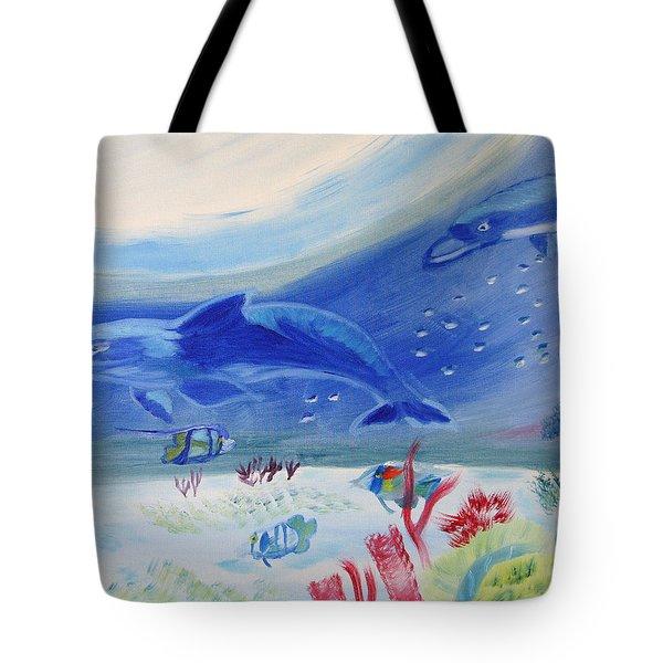 Rhythm Of The Sea Tote Bag by Meryl Goudey