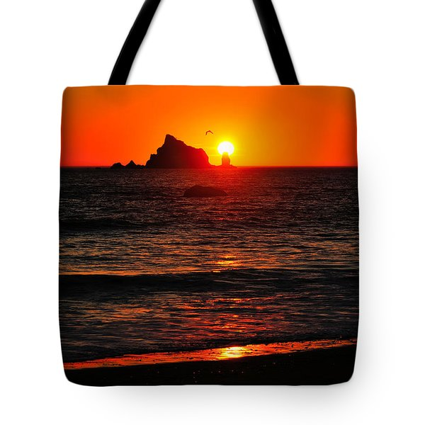 Rialto Beach Sunset Tote Bag