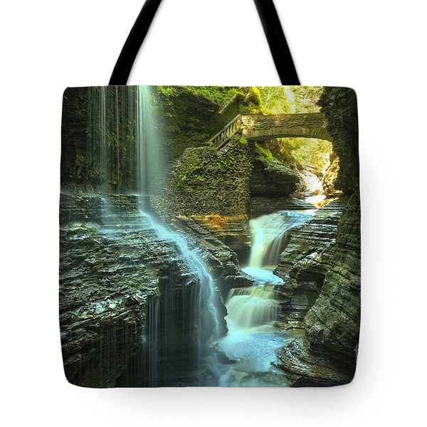 Rainbow Falls Watkins Glen Tote Bag