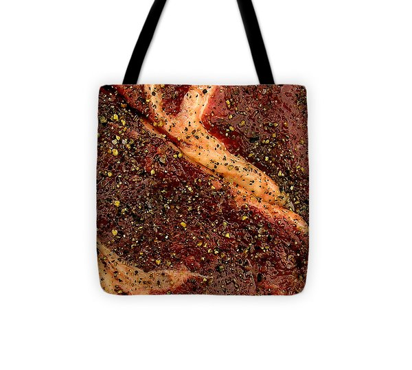Rib Eye Candy Tote Bag by James Temple