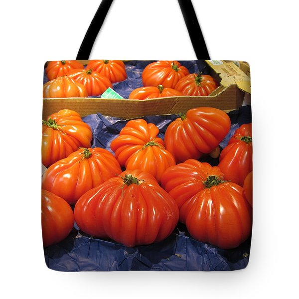 Ribbed Tomatoes Tote Bag by Pema Hou