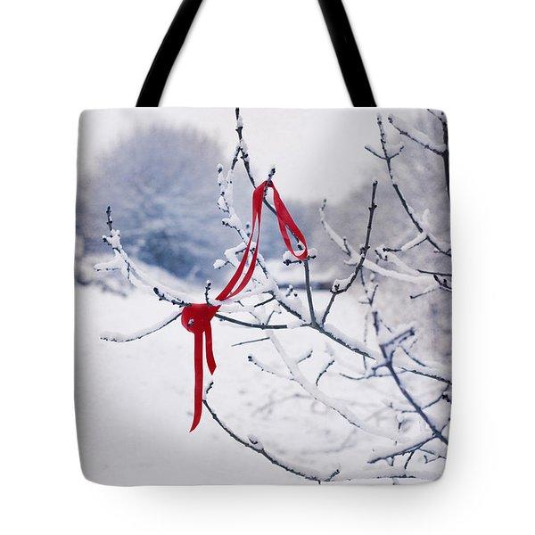 Ribbon In Tree Tote Bag by Amanda Elwell