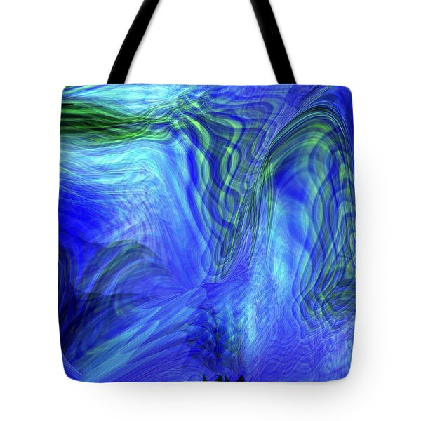 Tote Bag featuring the digital art Ribbon Of Light by rd Erickson