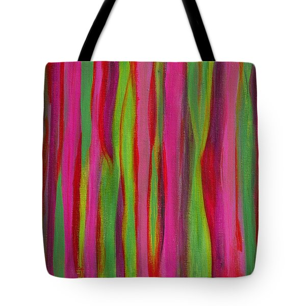 Ribbons Tote Bag by Donna  Manaraze