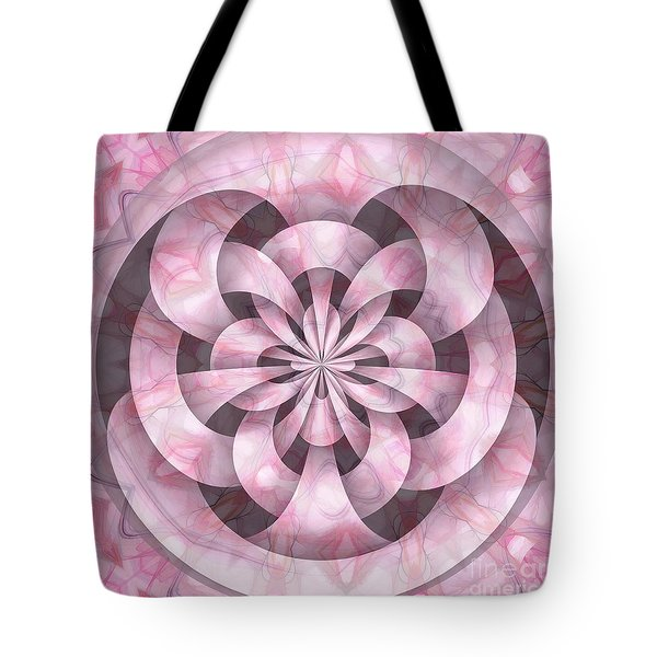 Ribbons Tote Bag by Peggy Hughes