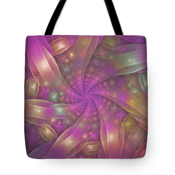 Ribbons Tote Bag by Sandy Keeton