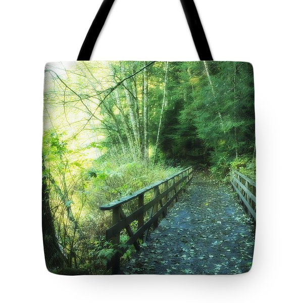 Rice Lake In North Vancouver Tote Bag by Marlene Ford