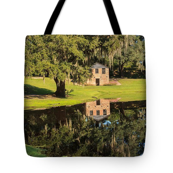 Rice Mill  Pond Reflection Tote Bag