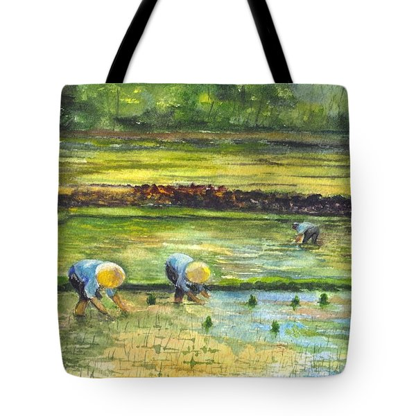 The Rice Paddy Field Tote Bag