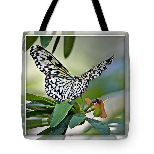 Rice Paper Butterfly 2b Tote Bag