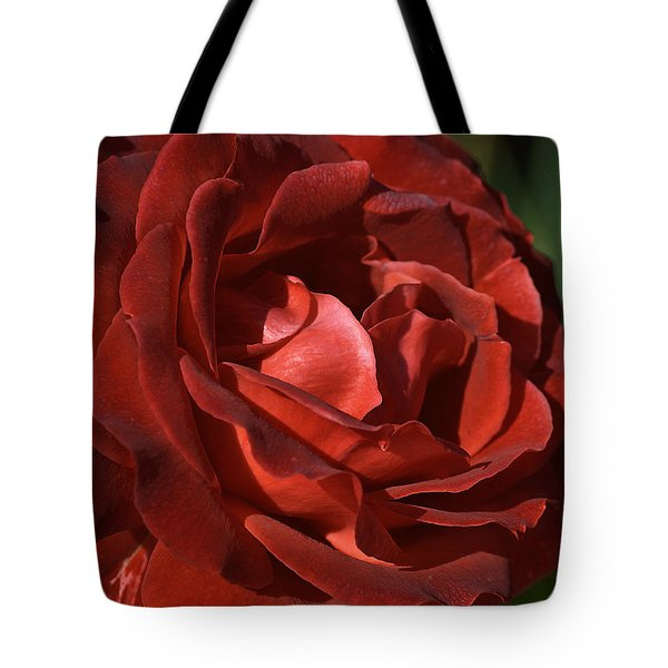 Tote Bag featuring the photograph Rich Is Rose by Joy Watson