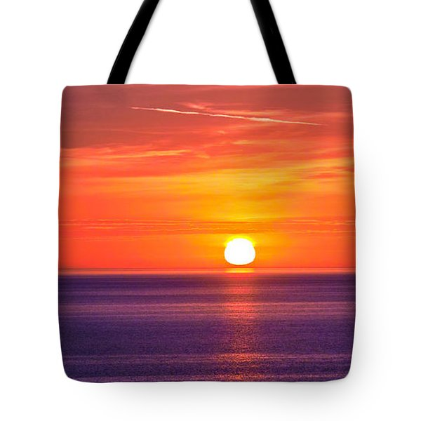 Rich Sunset Tote Bag by Jocelyn Kahawai