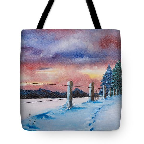 Tote Bag featuring the painting Rich Wintertide by Melinda Cummings