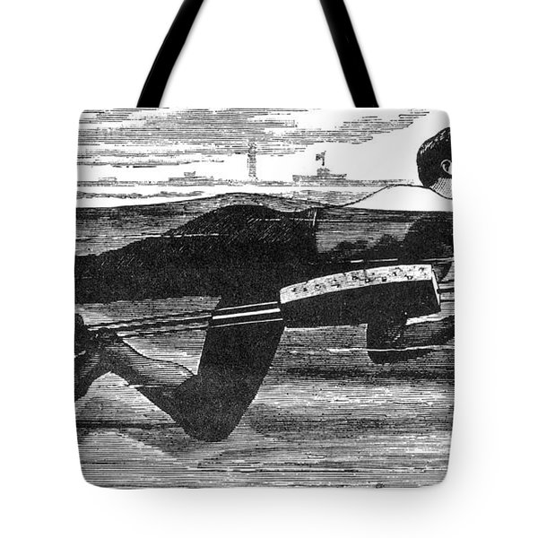 Richardsons Swimming Device 1880 Tote Bag by Science Source
