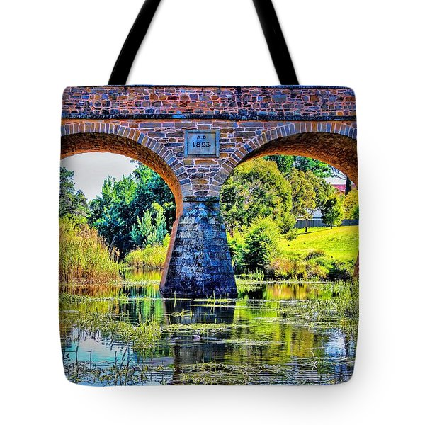 Tote Bag featuring the photograph Richmond Bridge by Wallaroo Images