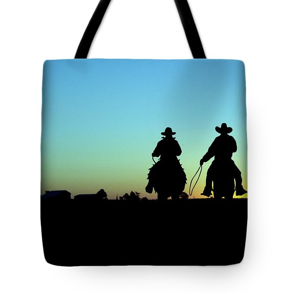 Ride 'em Cowboy Tote Bag by Andrea Kollo