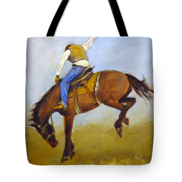 Ride 'em Cowboy Tote Bag by Carol Hart