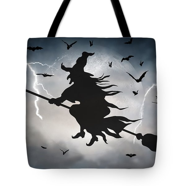 Ride Like Lighting Tote Bag