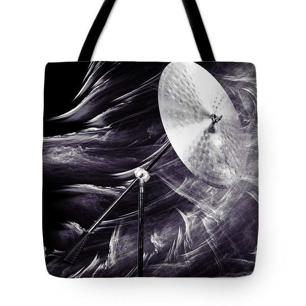 Ride Or Suspended Cymbal In Sepia 3241.01 Tote Bag