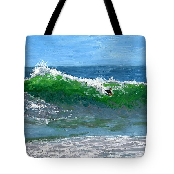Ride The Wild Wedge Tote Bag by Alice Leggett