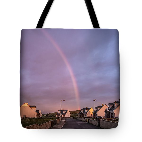 Ride To The Rainbow's End Tote Bag