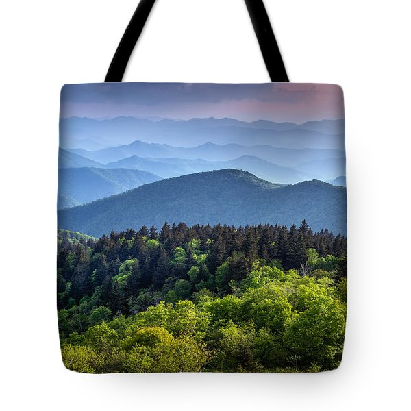 Ridges At Sunset Tote Bag