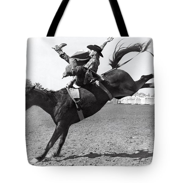 Riding A Bucking Bronco Tote Bag