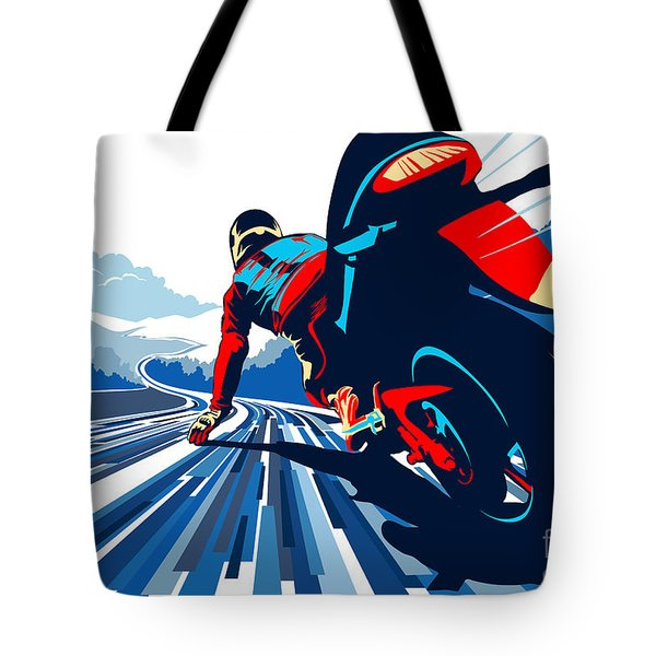 Riding On The Edge Tote Bag