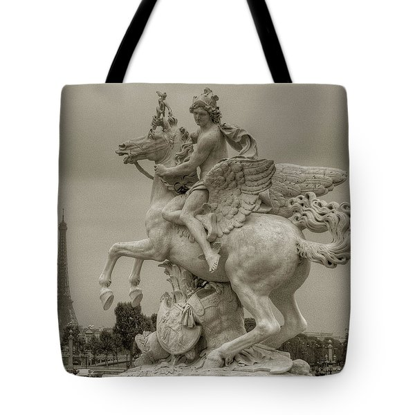 Riding Pegasis Tote Bag