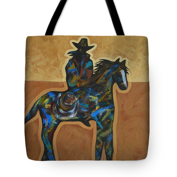 Riding Solo Tote Bag by Lance Headlee