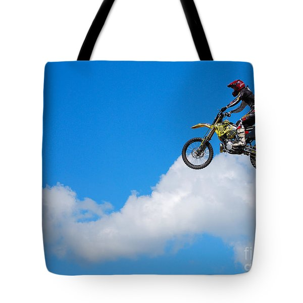 Riding The Clouds Tote Bag