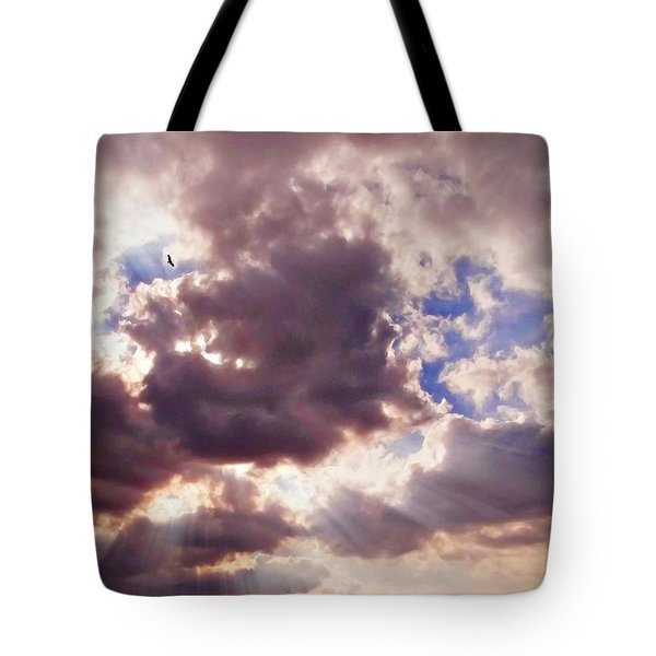 Riding The Invisible Tote Bag by Glenn McCarthy Art and Photography