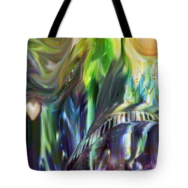 Riding The Wave Tote Bag by Linda Sannuti
