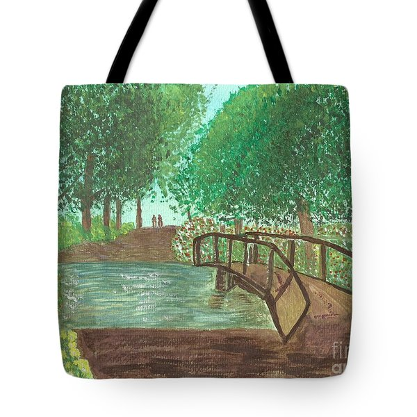 Riding Through The Woods Tote Bag by Tracey Williams
