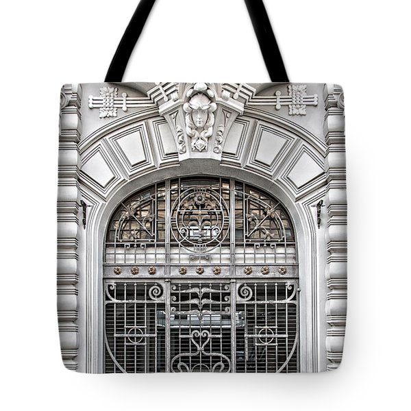 Riga Art Nouveau District 03 Tote Bag by Antony McAulay