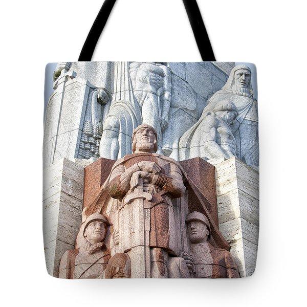 Riga Freedom Monument 02 Tote Bag by Antony McAulay