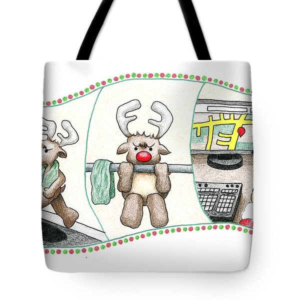 Tote Bag featuring the drawing Right Before X'mas by Keiko Katsuta