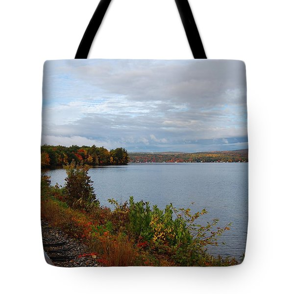 Tote Bag featuring the photograph Right Side Of The Track by Mim White