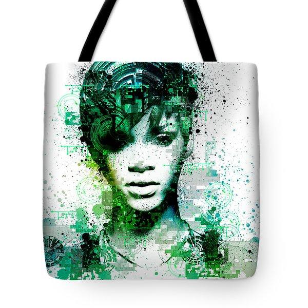 Rihanna 5 Tote Bag by Bekim Art