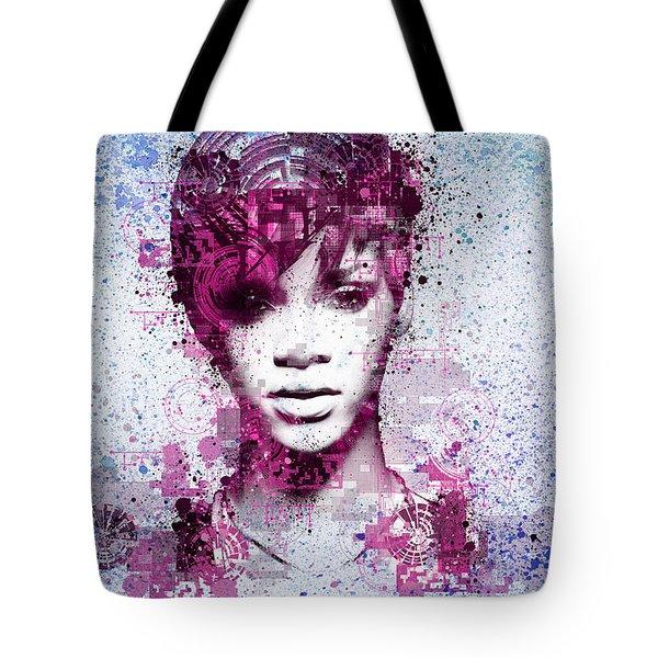Rihanna 8 Tote Bag by Bekim Art