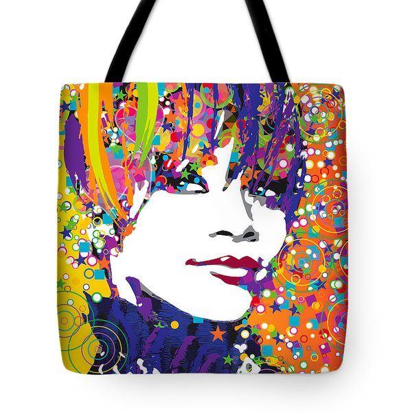 Rihanna In Blue Tote Bag by Irina Effa