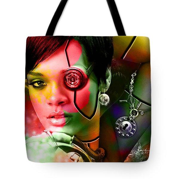 Rihanna Tote Bag by Marvin Blaine