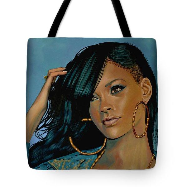 Rihanna Painting Tote Bag by Paul Meijering