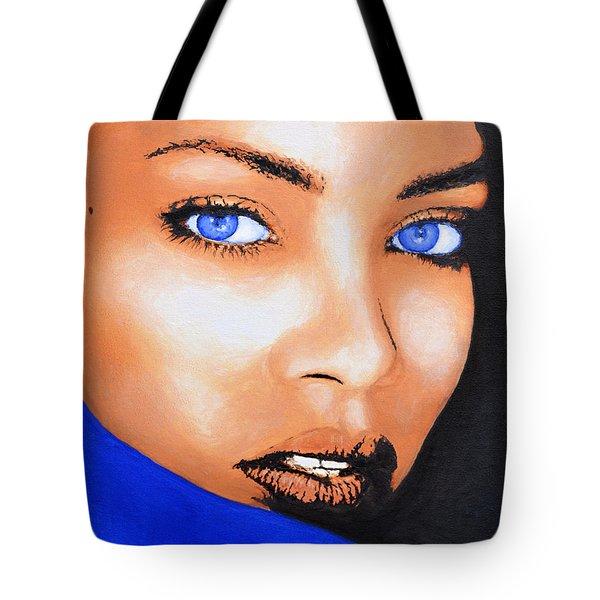 Rihanna Tote Bag by Victor Minca